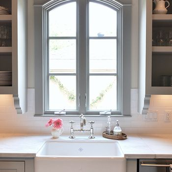 Love this window and shelves on the side.
