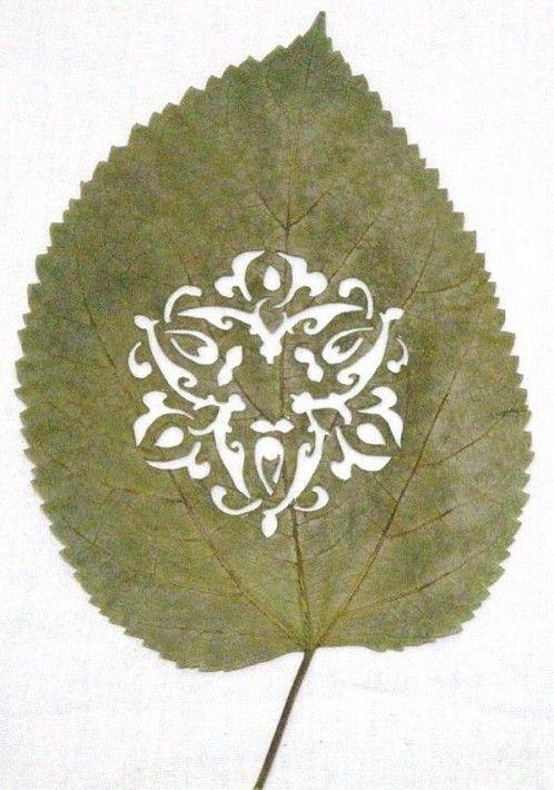 Lorenzo Duran Feuille d'arbre ajourée