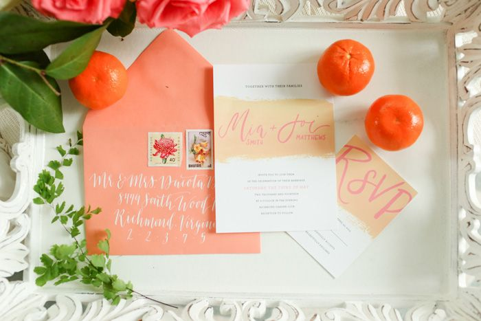 Wedding Blog Blush and Citrus Summer Inspiration: Blog Blushes, Color, Summer Inspiration, Wedding Invitations, Citrus Summer, Citrusi Summery, Wedding Blog, Invitations Inspiration, Citrus Invitations