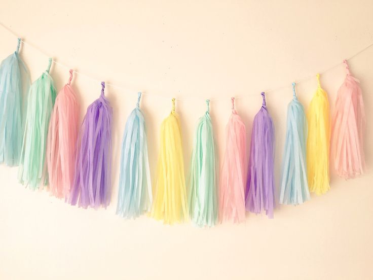 pastel colour mix garland wedding birthday baby shower christening party decoration back drop by Bagsoffavours on Etsy https://www.etsy.com/uk/listing/268278483/pastel-colour-mix-garland-wedding