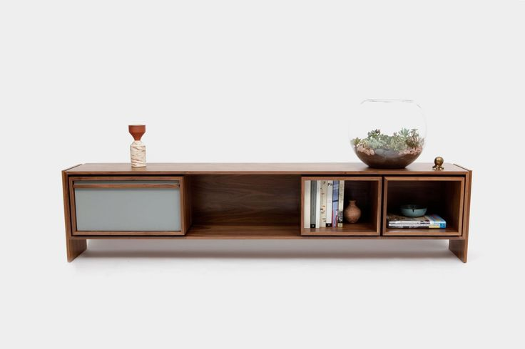 Large Low Unit - Contemporary Mid-Century / Modern Media Consoles & Media Cabinets - Dering Hall