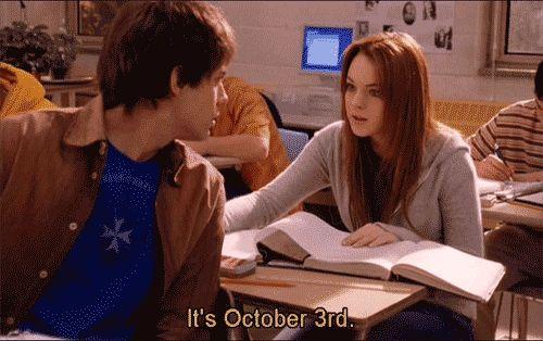 ITS OCTOBER 3RD