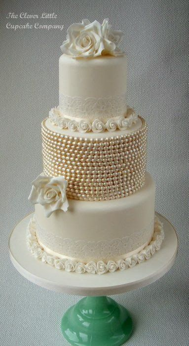 Love the lace, the pearls, the gold, the ribbon...it has all of the details that I love. ᘡηᘠ
