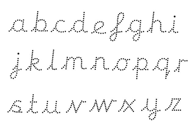 Editable Dotted Cursive Letter Formation