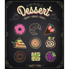 Plakat 60 x 80 cm w ramce - Dessert na Houzee.pl