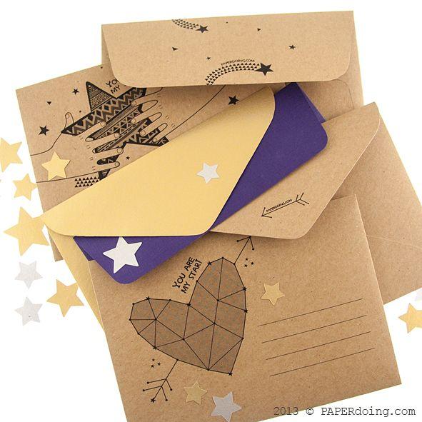 Крафт-конверты: больше разных дизайнов