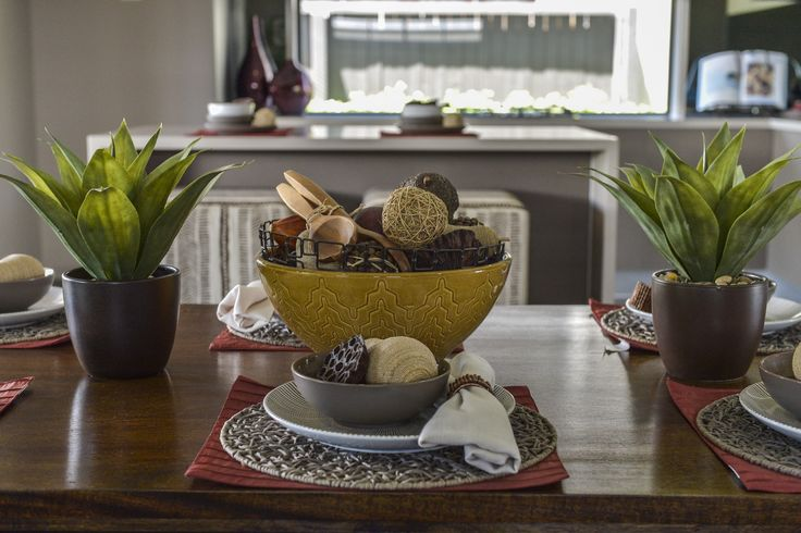 This #table #setting is from an Ausbuild display home. This table has an African safari #inspired look. www.ausbuild.com.au.