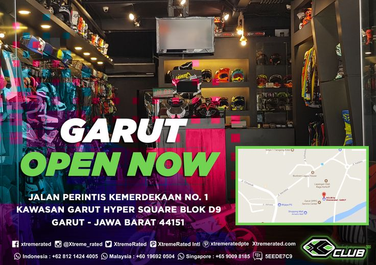 OPEN NOW! X-CLUB Garut @ Hyper Square Blok D9 Jalan Perintis Kemerdekaan No.1, Garut - Jawa Barat.   #xtremerated #xclub #motocross #mtb #toko #garut #jawabarat #indonesia