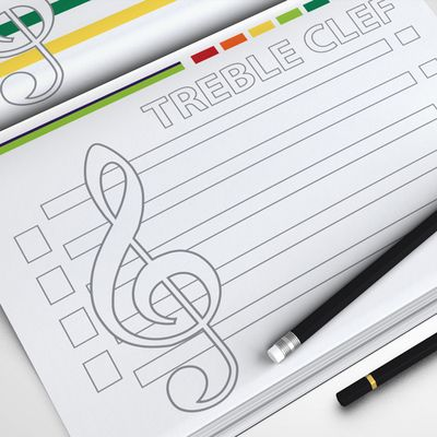 MUSIC: The Musical Staff - Treble, Alto and Bass Clef (Coloring Page) from HardPlayed on TeachersNotebook.com (6 pages)