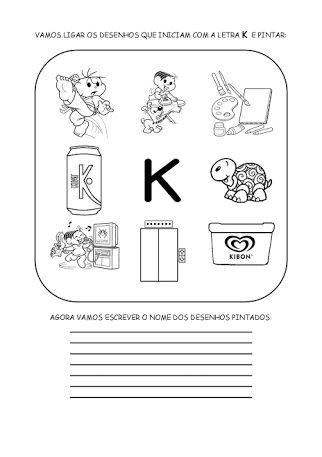 atividades com a letra k para educação infantil - Pesquisa Google