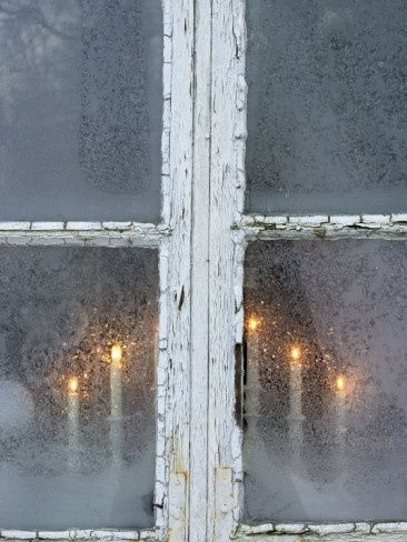 Candles in the window.