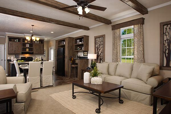 Nice mobile home... love the beams :) 1140 sq.ft.Geniusystems High Energy Home..love the beams