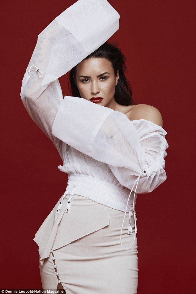 Working girl: Lovato first started acting alongside Selena Gomez in Barney & Friends and l...