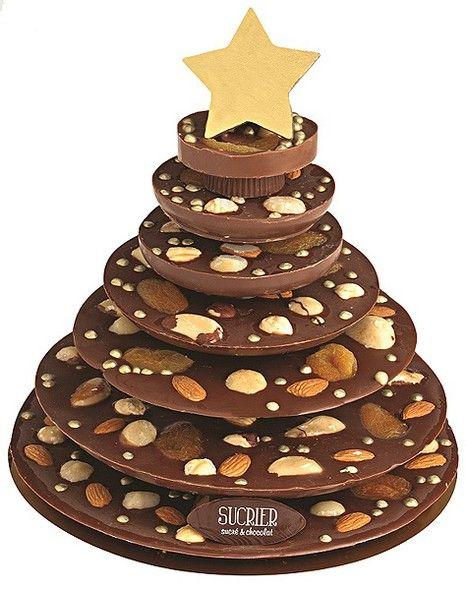 Quer impressionar? A Árvore de Chocolate com frutas secas e nuts Sucrier Sucré