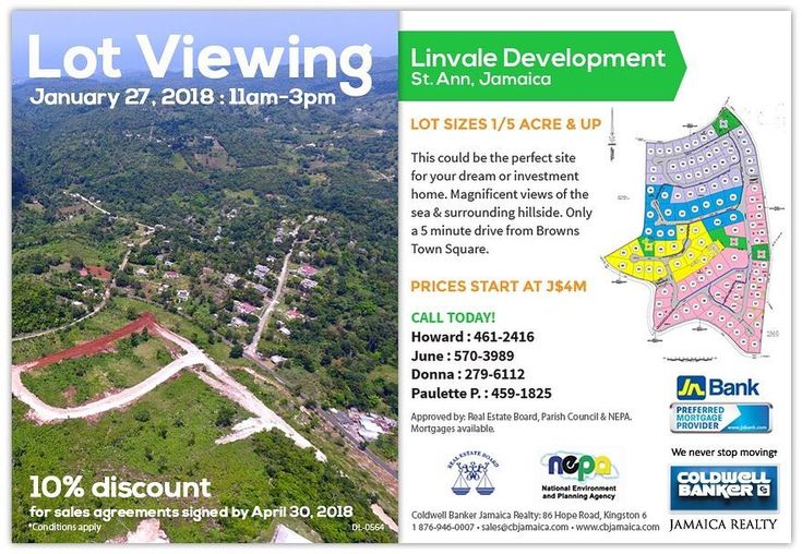 Via Coldwell Banker Jamaica Realty  Don't miss this lot viewing tomorrow!