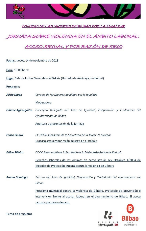 Jornada sobre violencia en el mbito laboral http ecuadoretxea blogspot