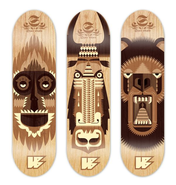 SKATEBOARD DESIGN by Sam Murdoch, via Behance
