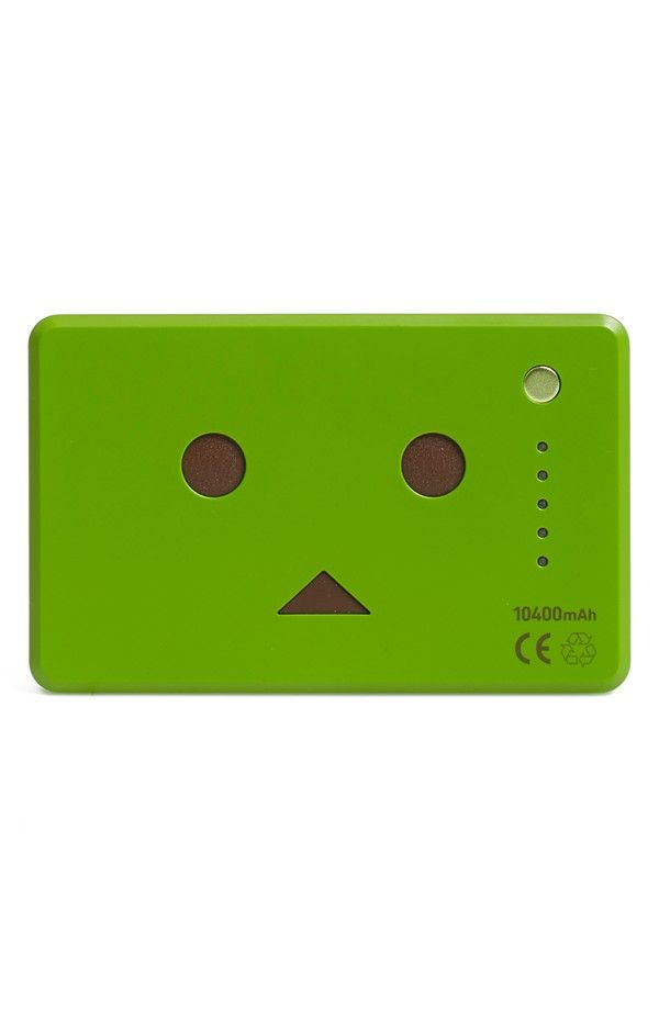 cheero 'Power Plus Danboard' 10400mAh Dual USBCharger Power Bank | Matcha | Designed to look like the popular cardoard-box-robot character from the Japanese Yotsuba&! manga series, this multi-device portable charger slips easily into a pocket or backpack—so you'll never worry again about your smartphone, tablet, music player, portable game player or other digital device running out of power when you're on the go.