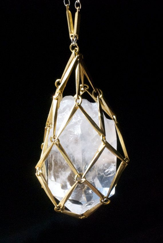 Quartz Crystal Necklace ~ Healing Crystals ~ Handmade Jewelry ~ Boho ~ Etsy ~ Vice and Virtue NYC
