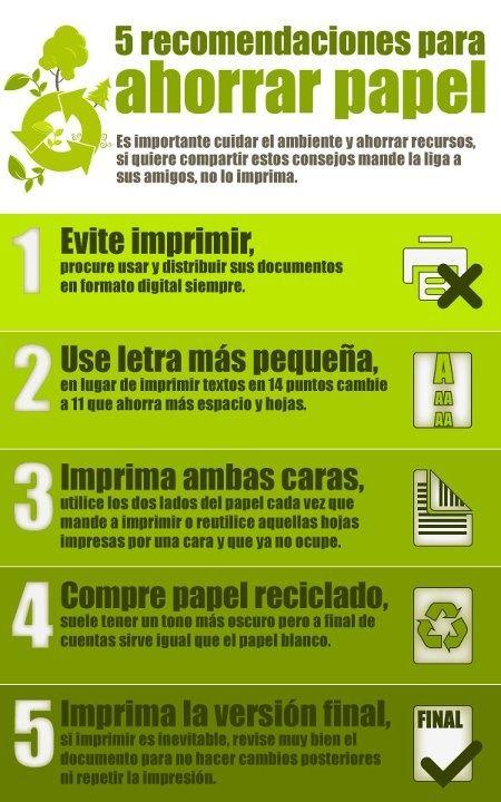 5 consejos para ahorrar papel