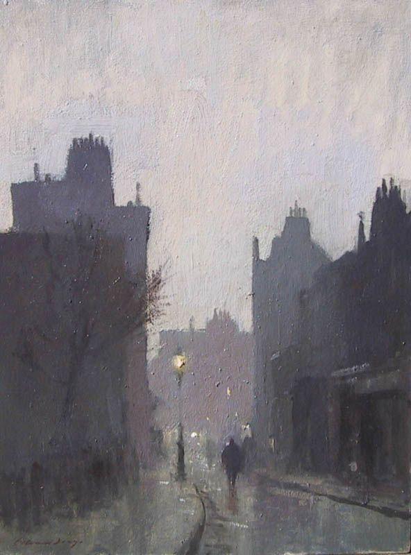 Edward Seago   Dusk in Browning Street