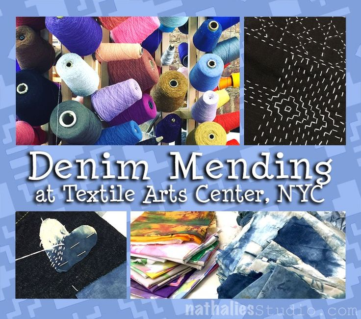Denim Mending at the Textile Arts Center in NYC