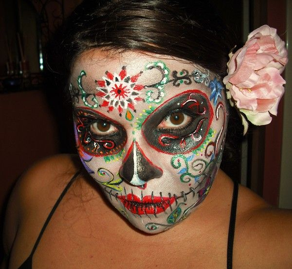 10 best halloween images on Pinterest Sugar skulls, Halloween - best halloween face painting ideas
