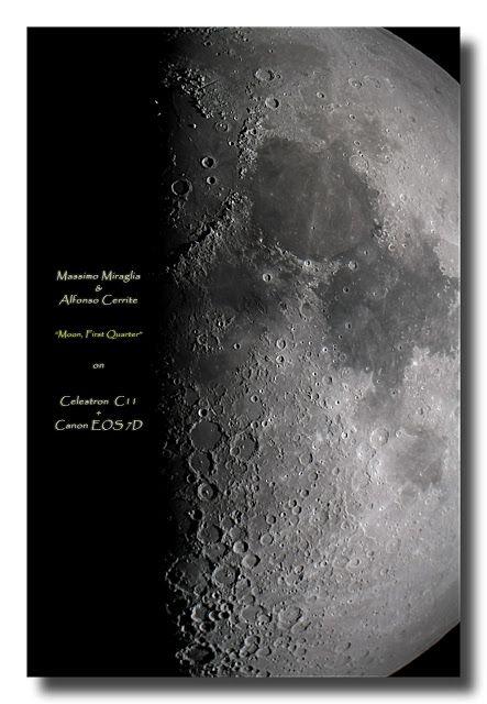Massimo Miraglia: Luna Primo Quarto con Celestron C11 e Canon EOS 7D...