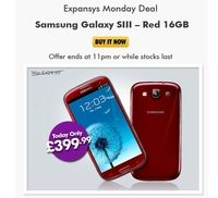 Samsung Galaxy S3 Price dropped to £400 in UK for today As a one-time deal, UK based retailer, Expansys, has cut the sale price of the Samsung Galaxy S3 ( Garnet…