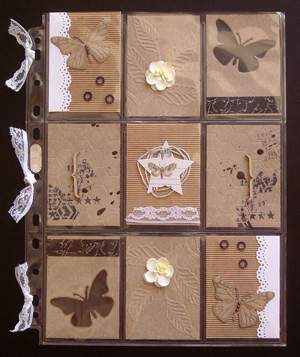 Pocket Letters, réalisées par Virginy, avec du #FlexPlak (embossé, découpé ou tamponné) et du carton microcannelé, pour Laura Pack Boutique