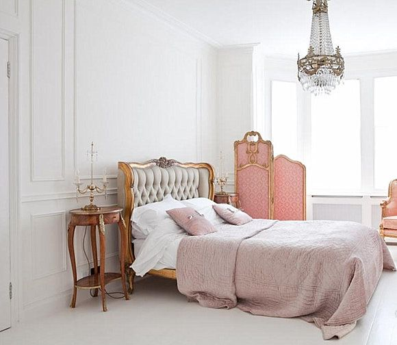 Yep. It's pink. It's also understated. Soft, elegant yet without all the phoof-ee-ness. (yeah, I made that one up__..but who knows.., it might catch on & be the next 'catch phrase'. THE thing to say and you have my permission to toss it around when talking decorator talk (ha-ha-ha-ha). Personally, I may add something over the headboard, but to each, his or HER own ...just saying  (:-D    @
