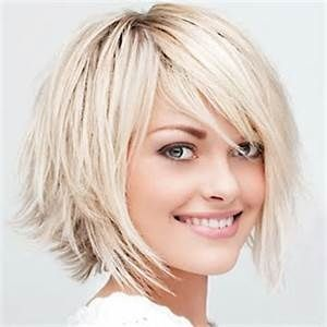 Short Layered Bob Hairstyle. more layers on top. a little shorter. love the bangs. flip it out a bit