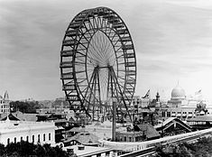 "1893 Chicago Worlds Fair.  On a related note, check out the book, ""The Devil in the White City."": George Washington, 1893 Chicago, Eiffel Towers, Amusement Parks, Ferris Wheels, Amusementparks, The Originals, Columbian Exposit, White Cities"