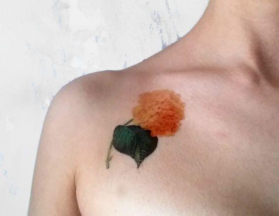 Pink Hydrangea medium temporary tattoo / floral di Leccio51