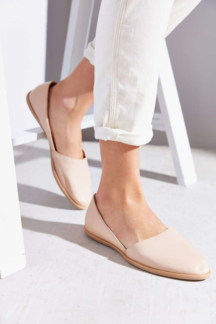 Blush D'Orsay Flats - so chic and casual