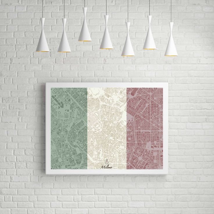Milan Map Tricolour Personalised
