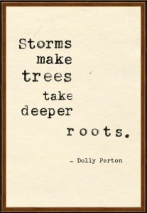 """Deeper Roots""- During difficult times in our lives, when we are tossed about by the winds of adversity...  Based on a quote  by Dolly Parton and the truth of God's Word, an encouraging message from True Living Today blog."