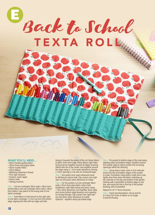 DIY Texta roll - Click through for instructions
