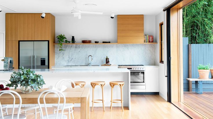 Clean lines. From 'A Contemporary Queenslander' designed by architect Frank Vedelago. From The Design Files.