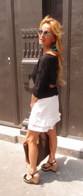 高級ファッションストリートVia Della Spiga イタリアンマダムはちょっとした露出が上手 sexy!