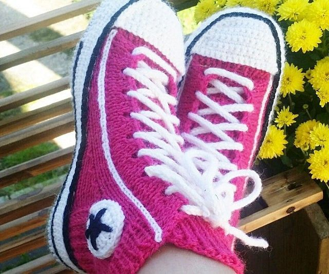 Converse Socks Crochet Pattern