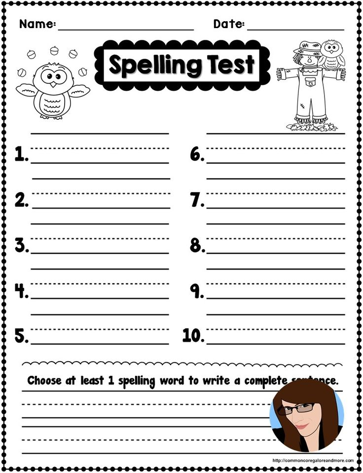78 best TpT Freebies images on Pinterest Teaching math, Teaching - spelling test template
