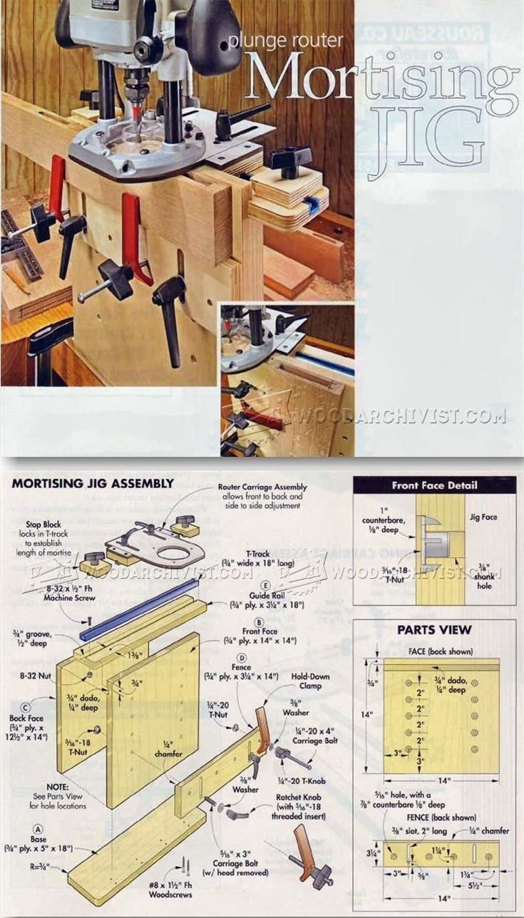 Mortising Jig Plans - Joinery Tips, Jigs and Techniques | WoodArchivist.com