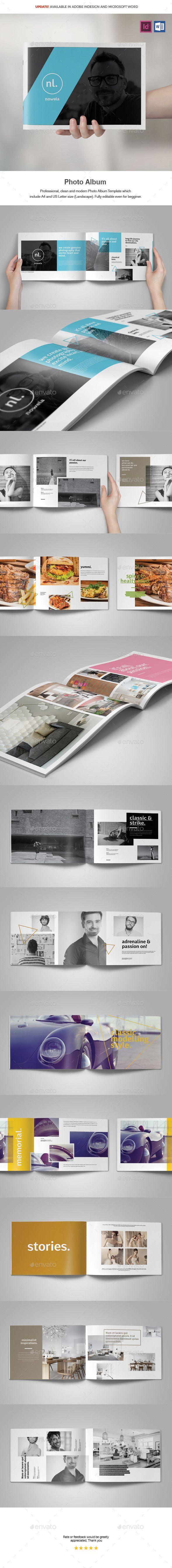 Photo Album Template - Photo Albums Print Templates Download here: https://graphicriver.net/item/photo-album-template/18240535?s_https://graphicriver.net/item/sleek-photo-album-portfolio/1970182?ref=classicdesignp