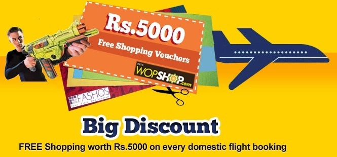 Now book flight on goibibo and get free shopping worth Rs 5000. Check out the exciting coupons at http://goo.gl/qcuvE  #Goibibo #flightbookingoffers