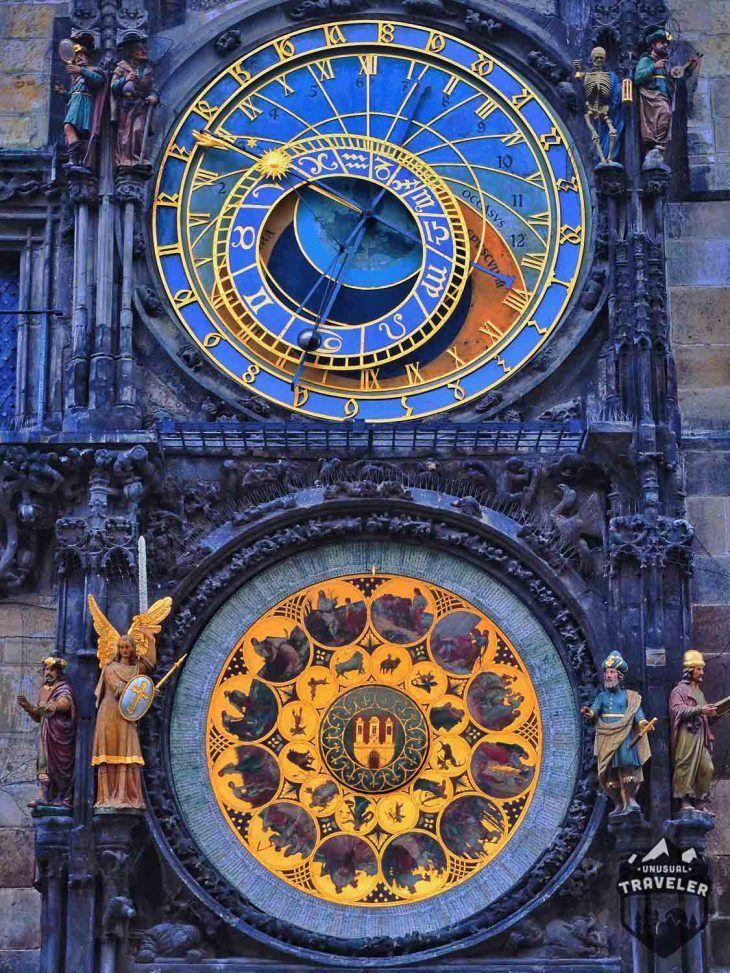 Prague astronomical clock. #Prague,#Czech,#Clock