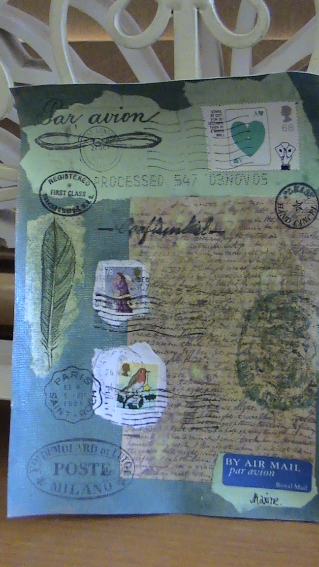 journal swap page- what happened to the art of letter writing
