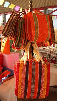 The colours of Mexico! Bolsas de ixtle, Temixco, Morelos, México