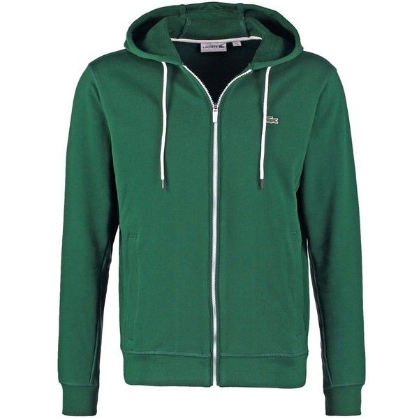 Lacoste Tracksuit top pine wood ❤ liked on Polyvore featuring activewear, lacoste and lacoste sportswear
