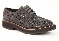 Brunello Cucinelli коричневая замша Swarovski Crystal ботинки США 6,5 это 36,5 новый